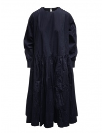 Casey Casey maxi long sleeve dress in blue cotton online