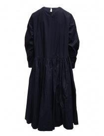 Casey Casey maxi abito a maniche lunghe in cotone blu