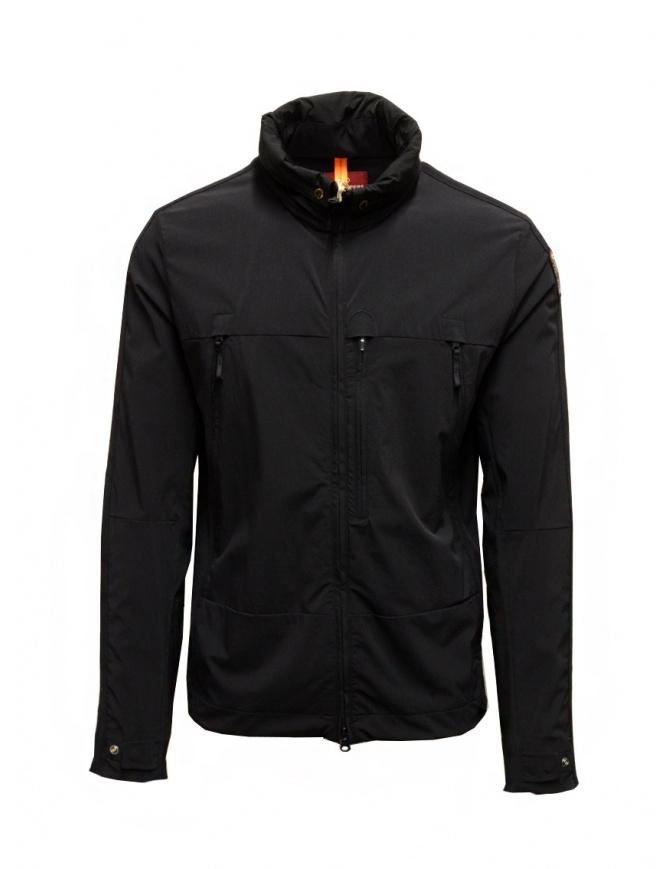 Parajumpers Kasuga black technical fabric jacket PMFLERT02 KASUGA BLACK mens jackets online shopping