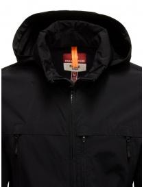 Parajumpers Kasuga black technical fabric jacket mens jackets price