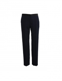Golden Goose navy blue linen wool trousers online