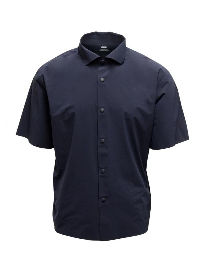Descente blu seamless shirt DAMRGB63U NVGR mens shirts online shopping