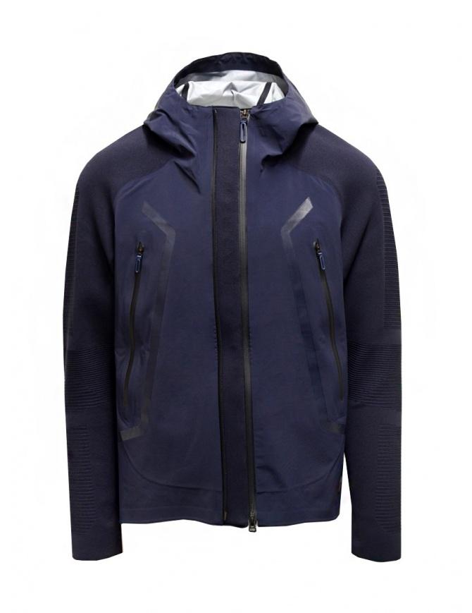 Descente Fusionknit Streamline Carrier Blue Jacket DJMRGL02U NVGR mens jackets online shopping