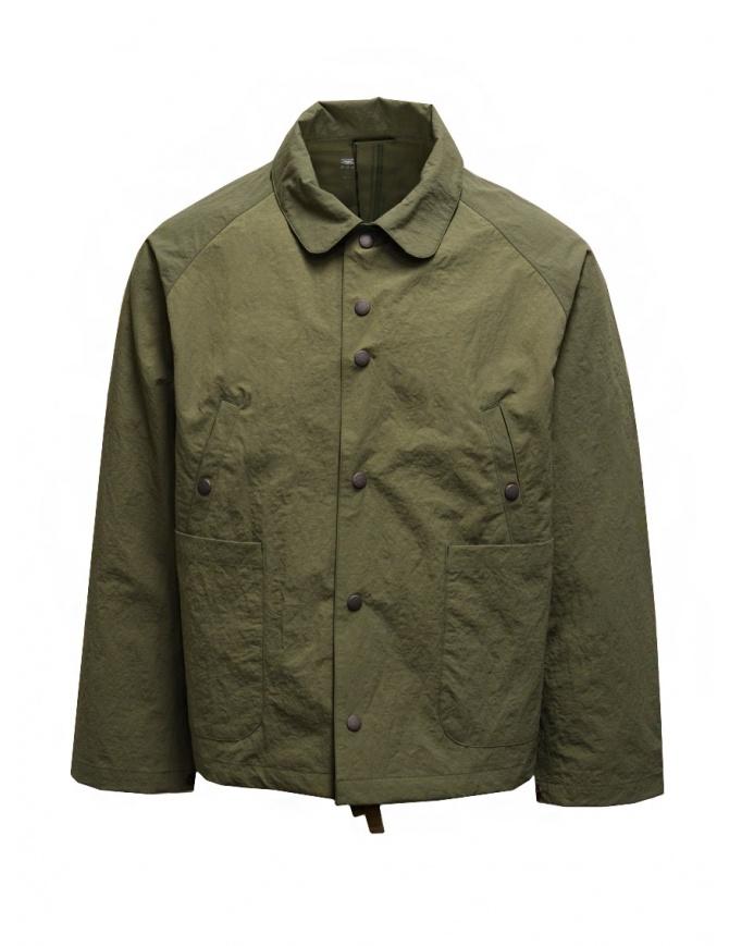 Descente swing coach giacca verde khaki DHURJC35U KHAKI giubbini uomo online shopping