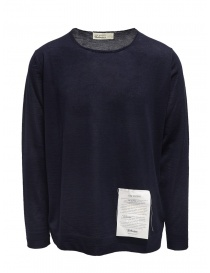 Ballantyne Raw Diamond blue cashmere crewneck sweater online