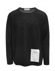 Ballantyne Raw Diamond pullover liscio nero in cashmere online