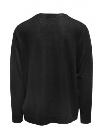 Ballantyne Raw Diamond pullover liscio nero in cashmere