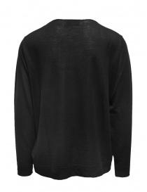 Ballantyne Raw Diamond smooth black cashmere pullover