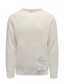 Ballantyne Raw Diamond pullover bianco in cotone scollo a barchetta online