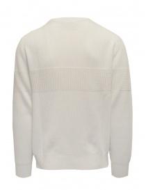 Ballantyne Raw Diamond pullover bianco in cotone scollo a barchetta