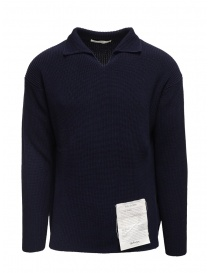 Ballantyne Raw Diamond blue cotton shirt collar pullover S2P082 7C037 13777 BLK-NVY order online