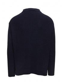 Ballantyne Raw Diamond blue cotton shirt collar pullover
