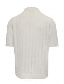 Ballantyne Raw Diamond pierced white cotton polo shirt