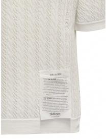 Ballantyne Raw Diamond polo traforata bianca in cotone maglieria uomo acquista online
