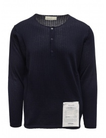 Ballantyne Raw Diamond crewneck seraph in dark blue cashmere online