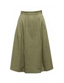 Cellar Door Clelia skirt in pistachio green cotton online