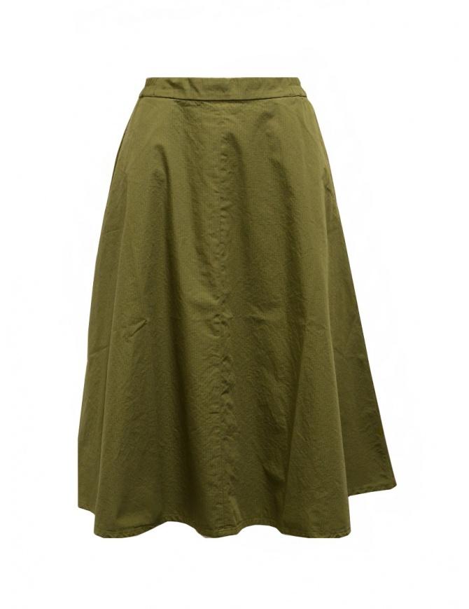 Cellar Door gonna Ambra a quadrettini color verde kaki AMBRA NF066 76 CAPILET OLIVE gonne donna online shopping