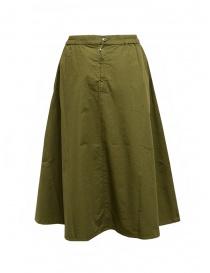 Cellar Door Ambra green khaki checkered skirt