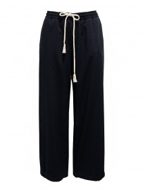 Cellar Door Laura wide blue pants with drawstring LAURA NQ050 69 MARITIME BLUE order online