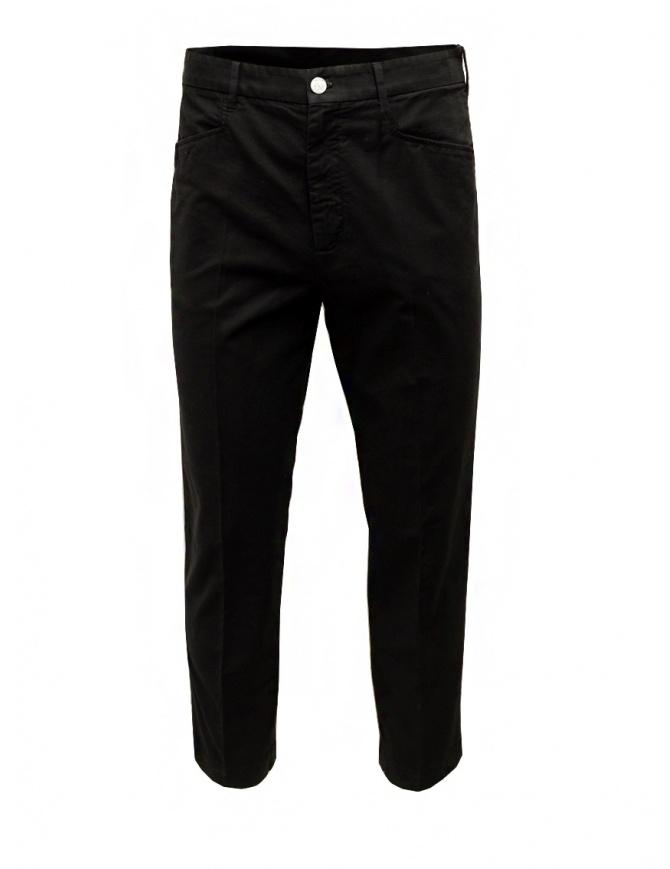 Cellar Door pantalone Kurt in cotone nero KURT NF457 99 BLACK BEAUTY pantaloni uomo online shopping
