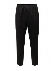 Pantaloni uomo online: Cellar Door pantalone Ciack nero con elastico in vita