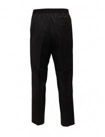 Cellar Door pantalone Ciack nero con elastico in vita