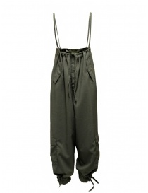 Cellar Door Daisy olive green high-waisted pants-dungarees DAISY NQ086 76 CAPULET OLIVE order online