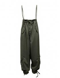 Pantaloni donna online: Cellar Door Daisy pantalone-salopette a vita alta verde oliva