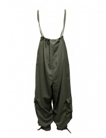 Cellar Door Daisy olive green high-waisted pants-dungarees
