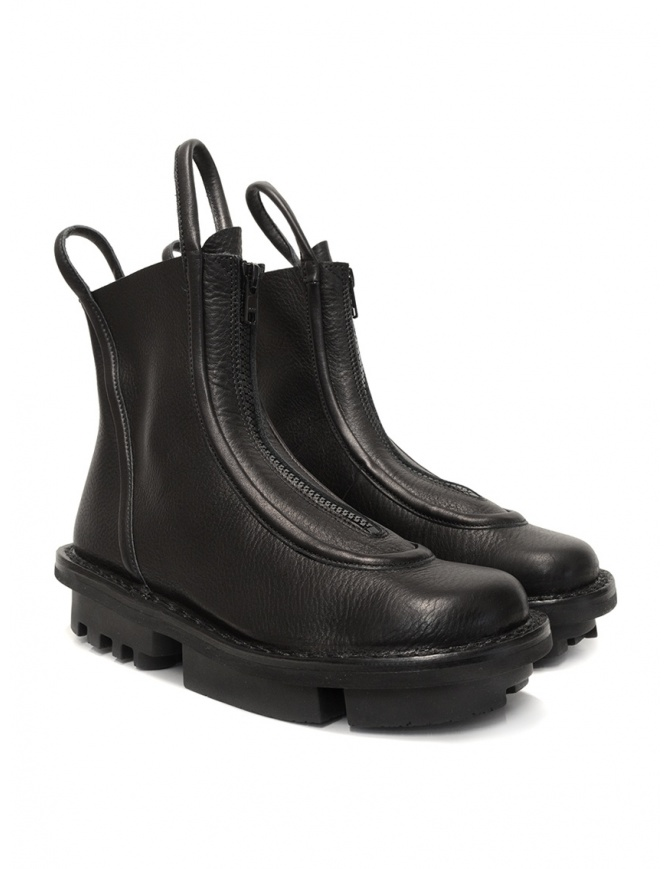 Trippen Micro black ankle boots with front zip MICRO F WAW SAT womens shoes online shopping