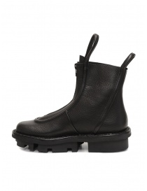 Trippen Micro black ankle boots with front zip
