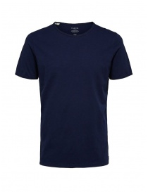 Selected Homme maritime blue t-shirt in organic cotton online