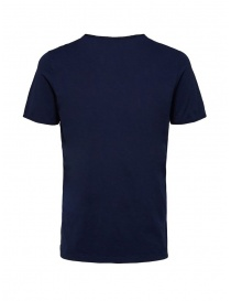 Selected Homme maritime blue t-shirt in organic cotton