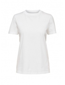 T shirt donna online: Selected Femme T-shirt bianca in cotone Pima