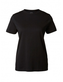 Selected Femme T-shirt nera in cotone Pima online