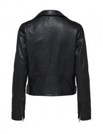 Selected Femme black leather biker jacket