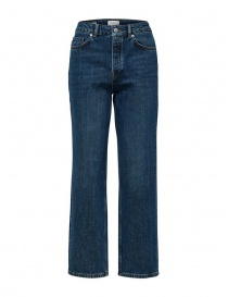 Womens jeans online: Selected Femme straight leg jeans in organic cotton