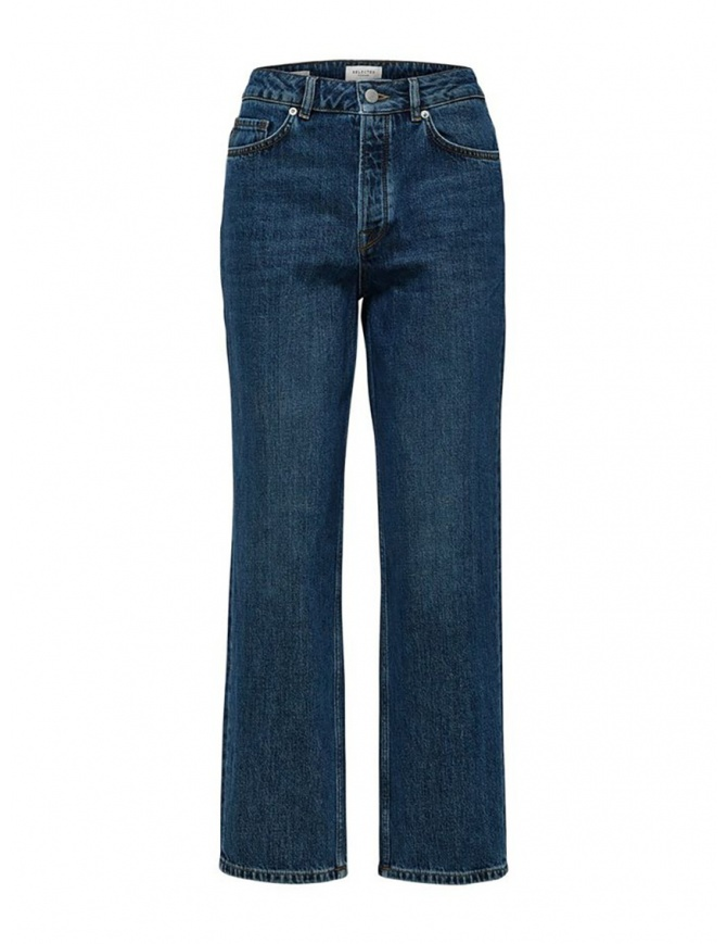Selected Femme straight leg jeans in organic cotton 16070408 STRAIGHT INKY BLU womens jeans online shopping