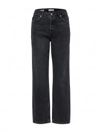 Selected Femme jeans grigi dritti in cotone organico online