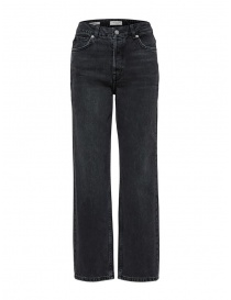 Womens jeans online: Selected Femme straight grey organic cotton jeans