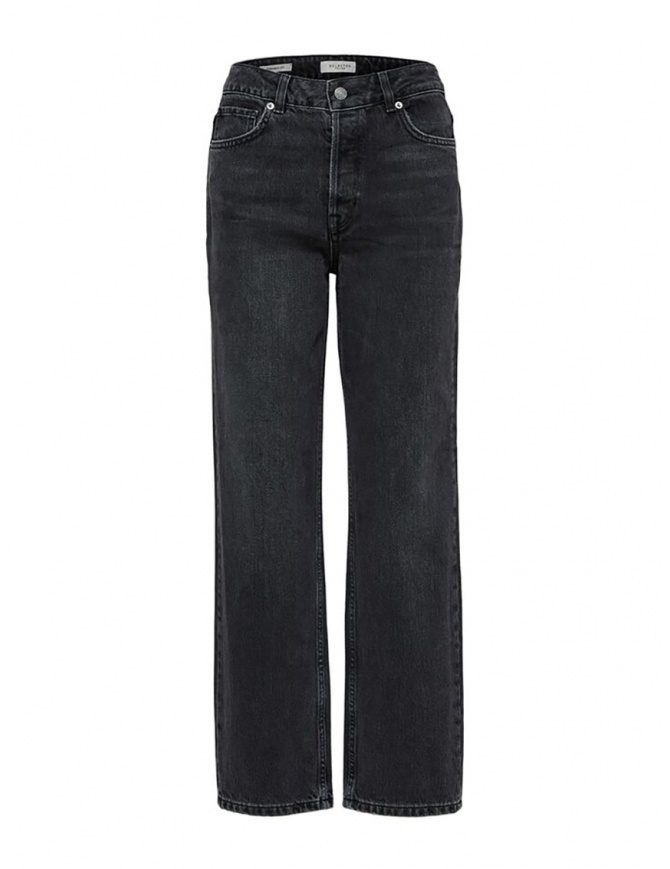 Selected Femme straight grey organic cotton jeans 16070409 STRAIGHT GREY STON womens jeans online shopping