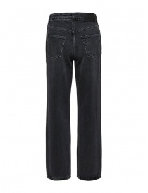 Selected Femme jeans grigi dritti in cotone organico