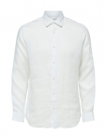 Selected Homme camicia bianca in lino manica lunga online