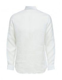 Selected Homme camicia bianca in lino manica lunga