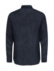 Selected Homme camicia a maniche lunghe in lino blu