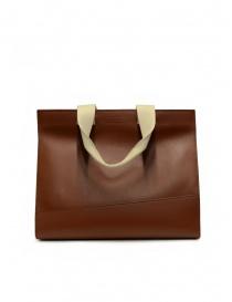 Il Bisonte Sole Fifty On tote bag in pelle marrone acquista online prezzo