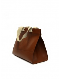 Il Bisonte Sole Fifty On tote bag in pelle marrone