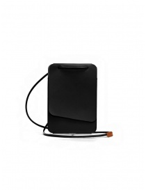 Il Bisonte Petite Pochette phone holder in black leather online