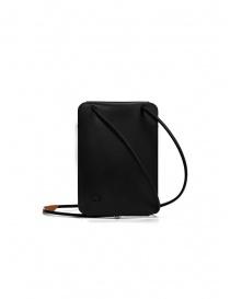 Il Bisonte Petite Pochette phone holder in black leather
