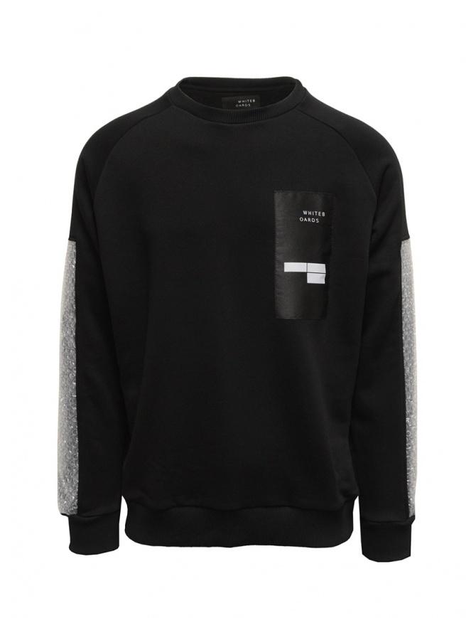 Whiteboards felpa nera con maniche pluriball WB04AS2021 BLACK maglieria uomo online shopping